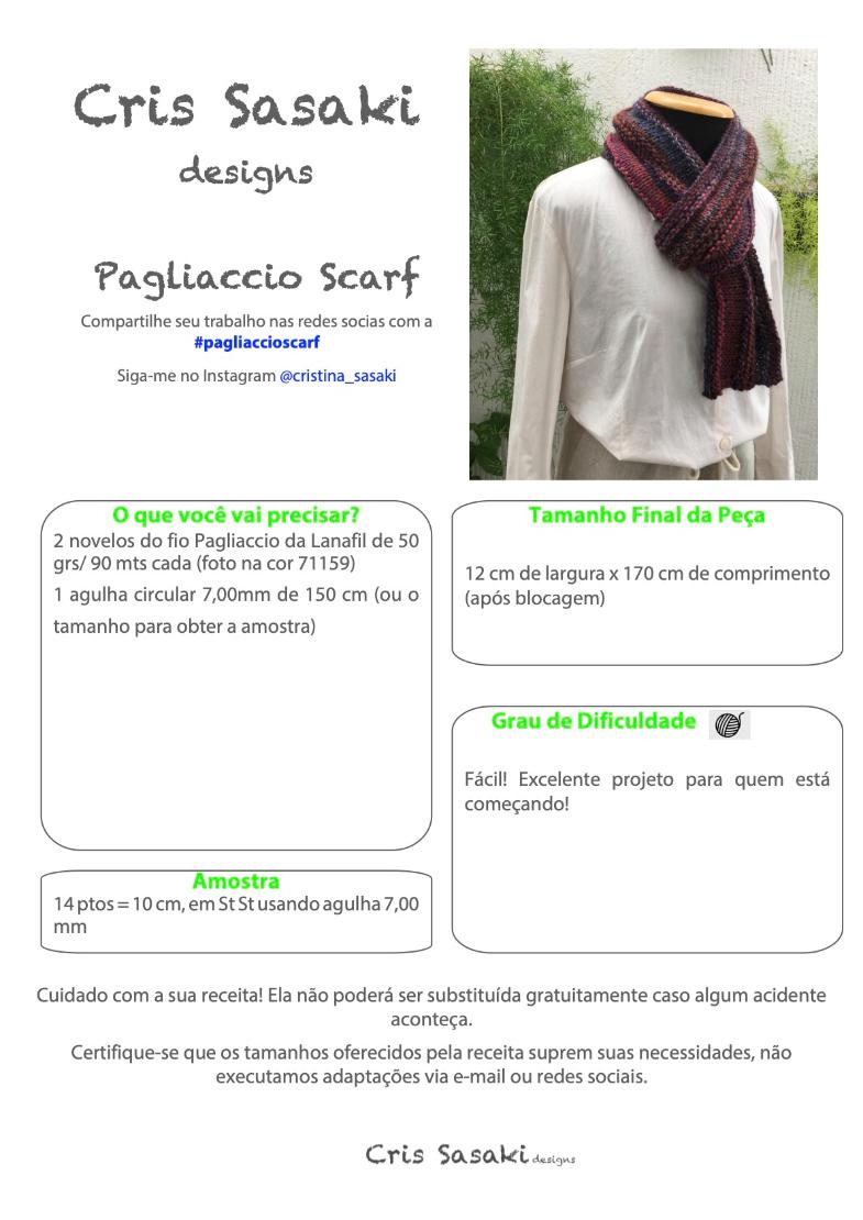 Receita Pagliaccio Scarf - Empório das Lãs