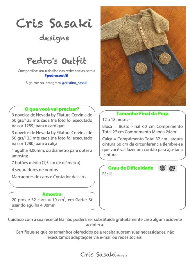 Receita Pedro's Outfit - Empório das Lãs