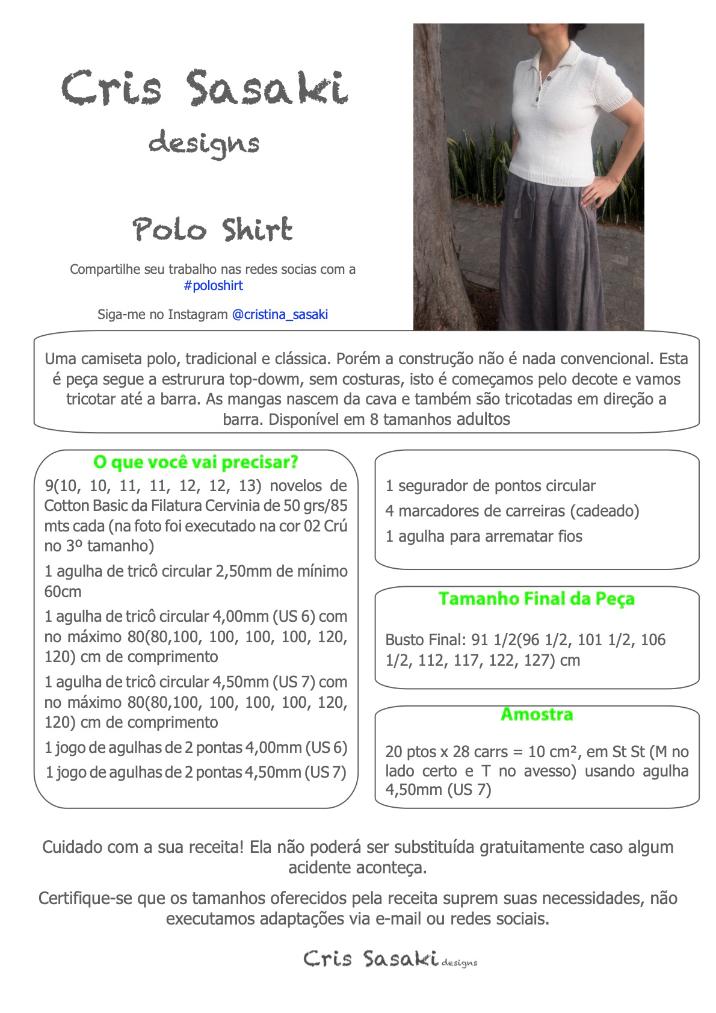 Receita Polo Shirt - Empório das Lãs