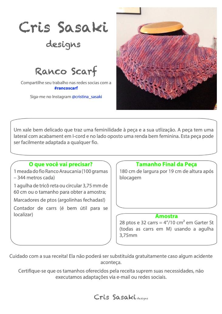 Receita Ranco Scarf - Empório das Lãs