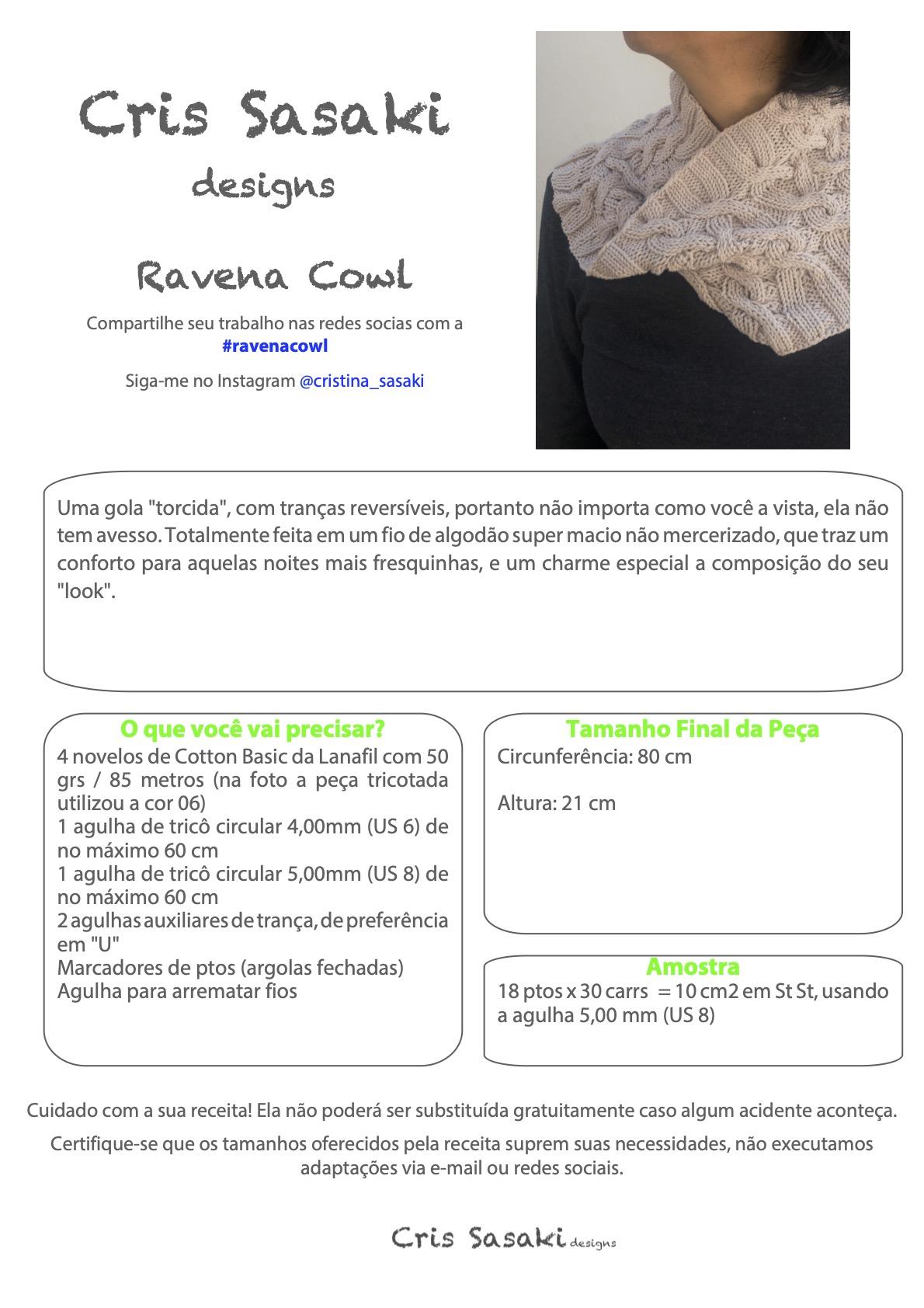 Receita Ravena Cowl - Empório das Lãs
