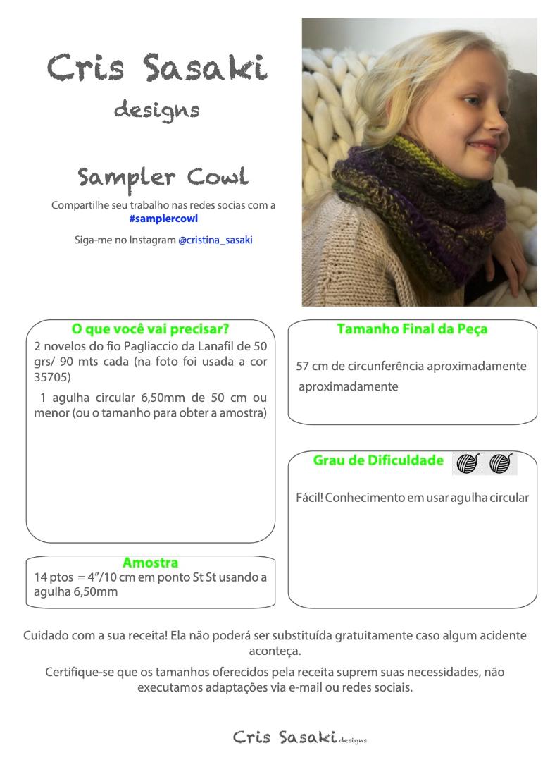 Receita Sampler Cowl- Empório das Lãs