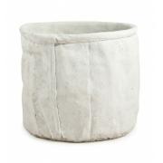 Cachepot Algodão Offwhite em cimento