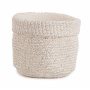 Cachepot Crochê nude em cimento