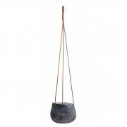 Cachepot pendente em cerâmica preto