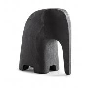 Escultura Elefant em poliresina preta P