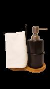 Kit de Banheiro Minimalista Preto