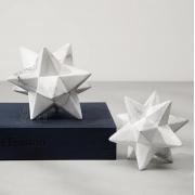 Objeto decorativo estrela marmore em ceramica