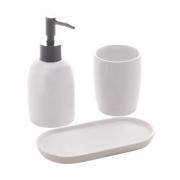 Organizadores de banheiro 3 peças Londres Branco e Prateado