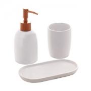 Organizadores de banheiro 3 peças Londres Branco e Rose