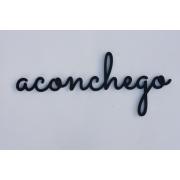 Palavras em MDF na cor Preta Aconchego
