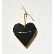 Placa decorativa Heart preto O Amor mora aqui