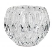 Porta-vela Dimond gotas em vidro incolor