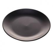 Prato Raso Nero em cerâmica preto 27cm