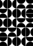 Quadro decorativo Ladrilhos moldura em mdf preta 33 x 43