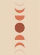Quadro decorativo Lua  moldura em mdf preta 33 x 43