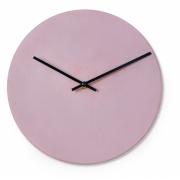 Relógio de parede Bauhaus em cimento Rosa