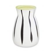 Vaso zebra em ceramica