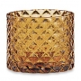Porta-velas Elegance Diamond em vidro âmbar