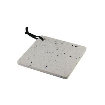 Bandeja Terrazzo de mármore branco 20x20