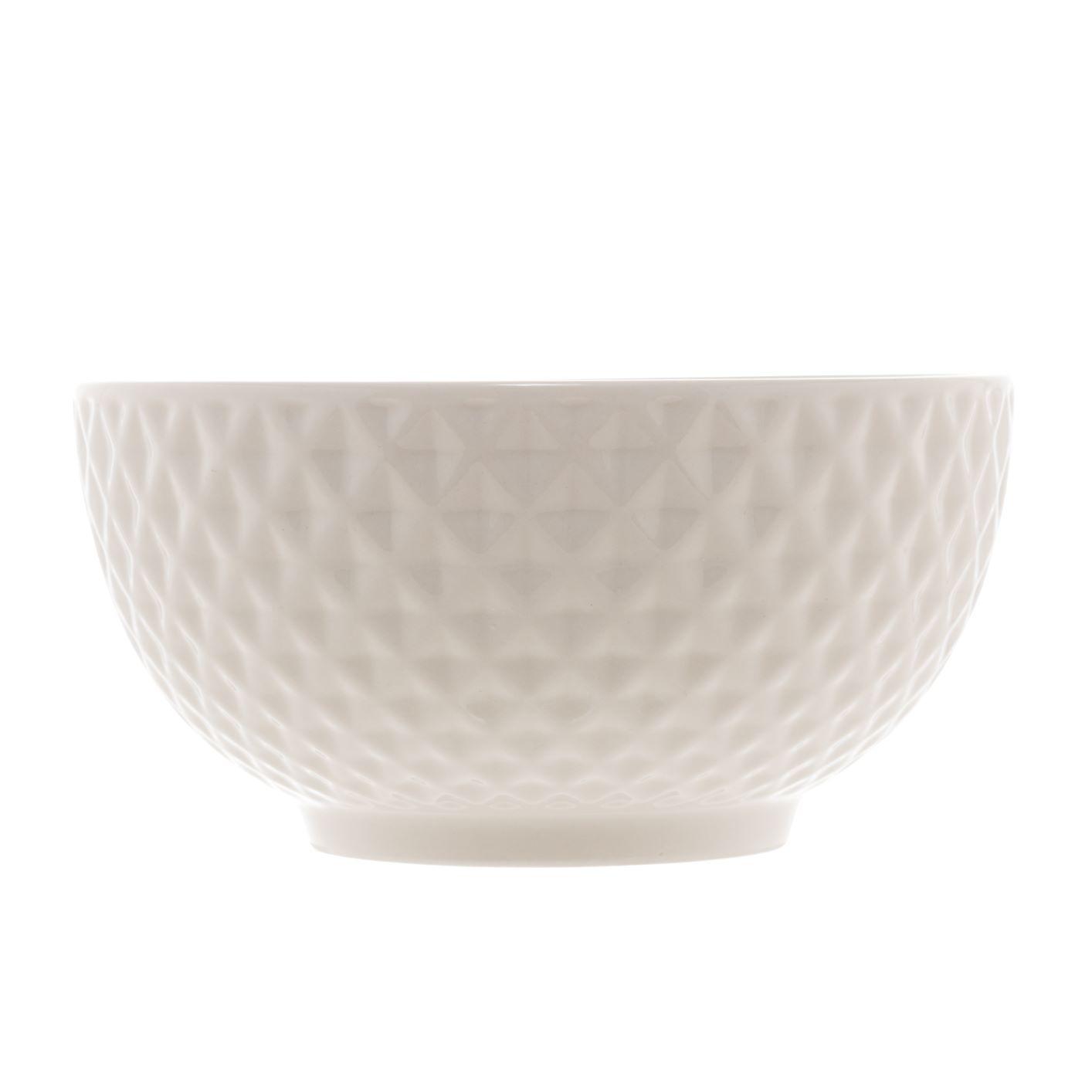 Bowl New Bone Diamond de porcelana Branco