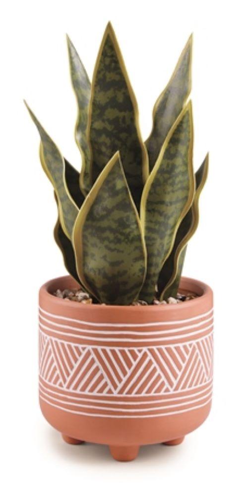 Cachepot etnico com planta permanente Tamanho:P