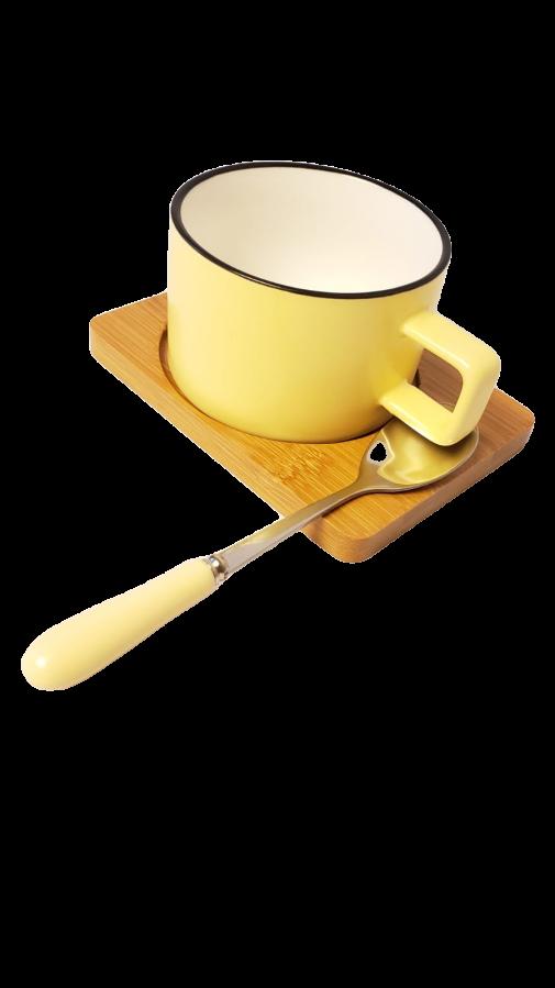 Caneca de porcelana Candy Amarela