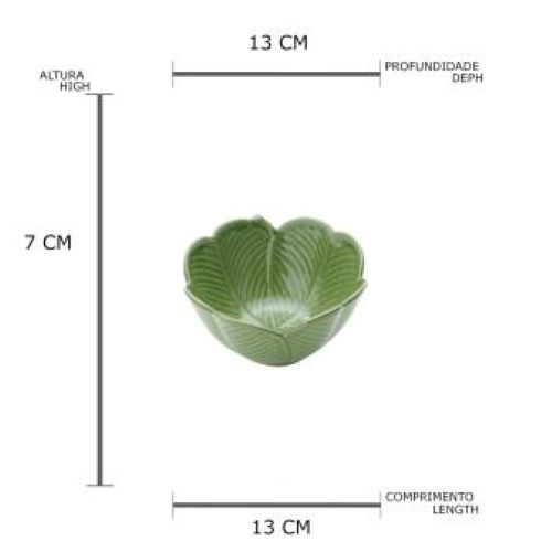 Centro de mesa decorativo banana leaf