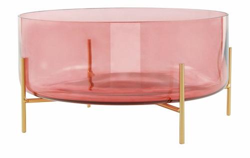 Centro de mesa decorativo em vidro Marsala