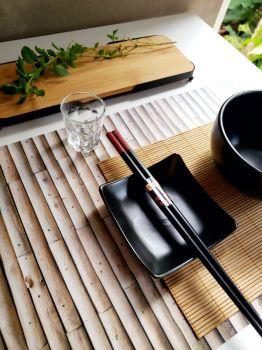 Conjunto 2 peças Jogo Americano Bambu de plástico