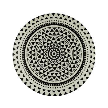 Conjunto 2 peças Lugar Americano Mandala preto e branco