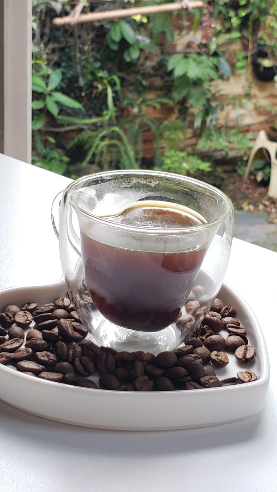 Conjunto 2 Xicaras café Heart em Borossilicato 80ml