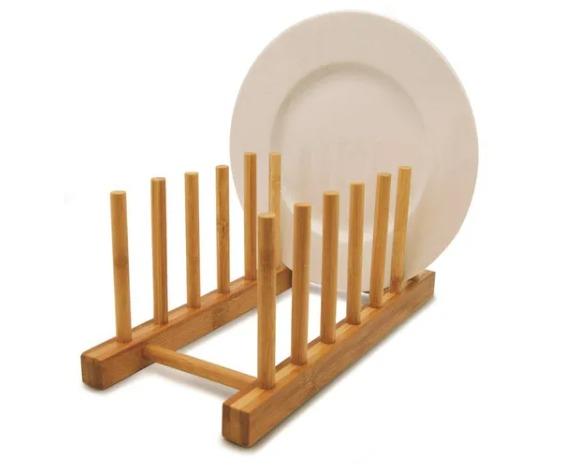 Escorredor e Organizador em Bambu