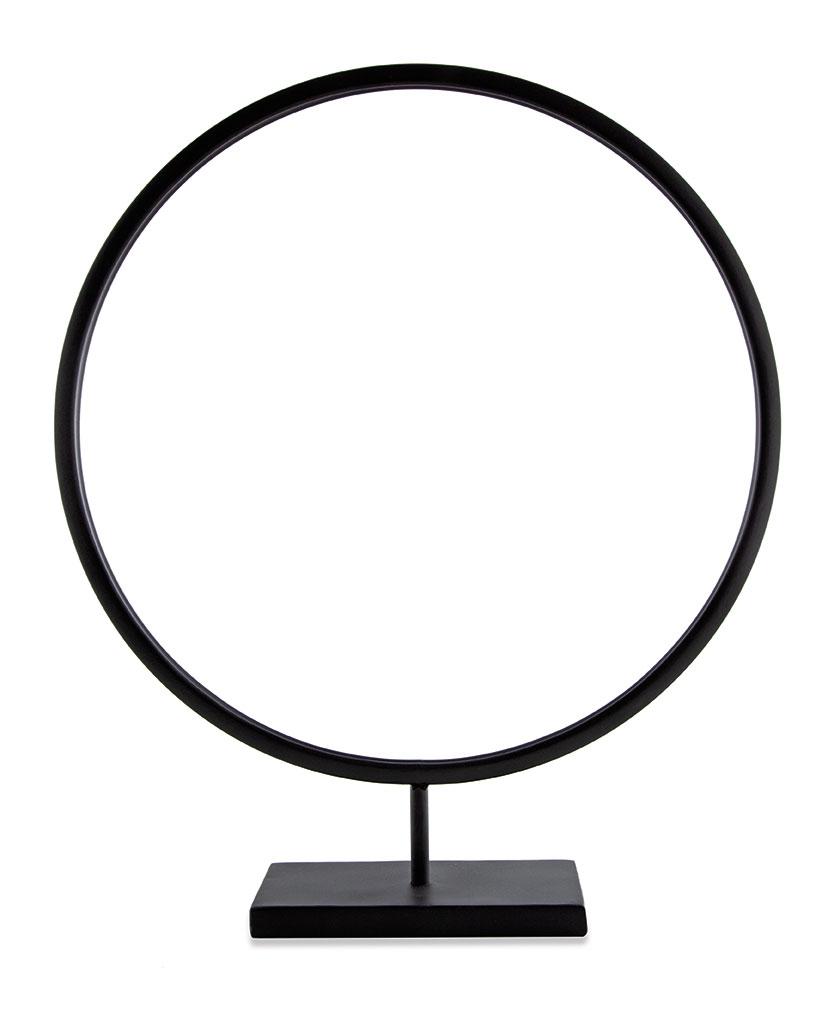 Escultura Circle em Metal Preta G