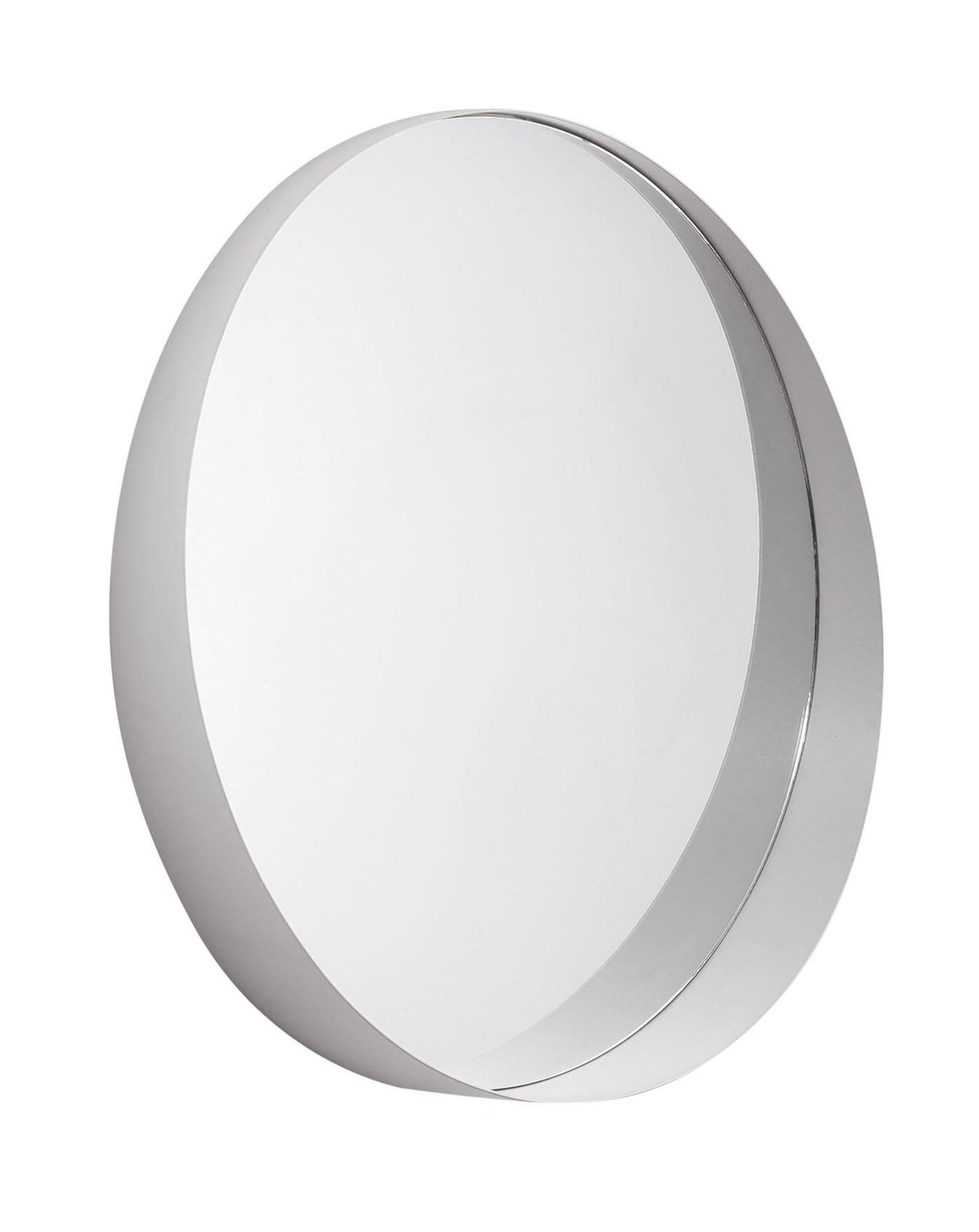 Espelho redondo off white em metal