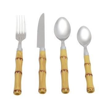 Faqueiro bambu - 24 peças