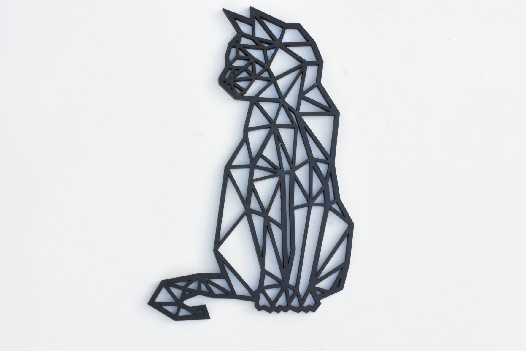 Figura em MDF na cor Preta Gato