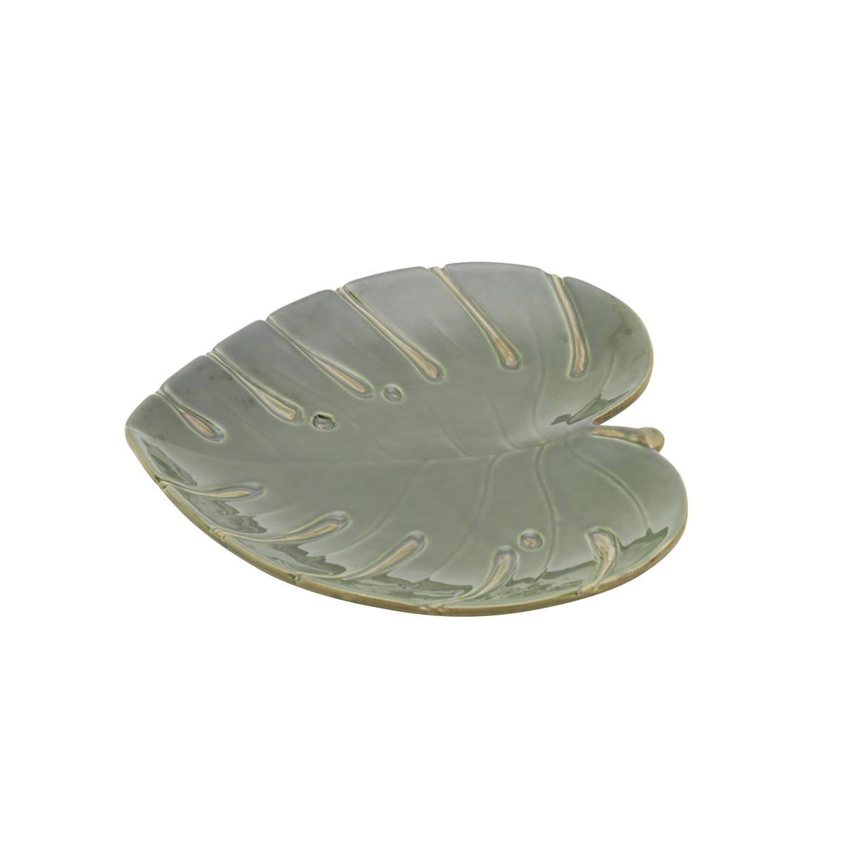 Folha decorativa costela de Adão de cerâmica