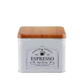 Lata Porta Capsulas de Café Expresso Branca