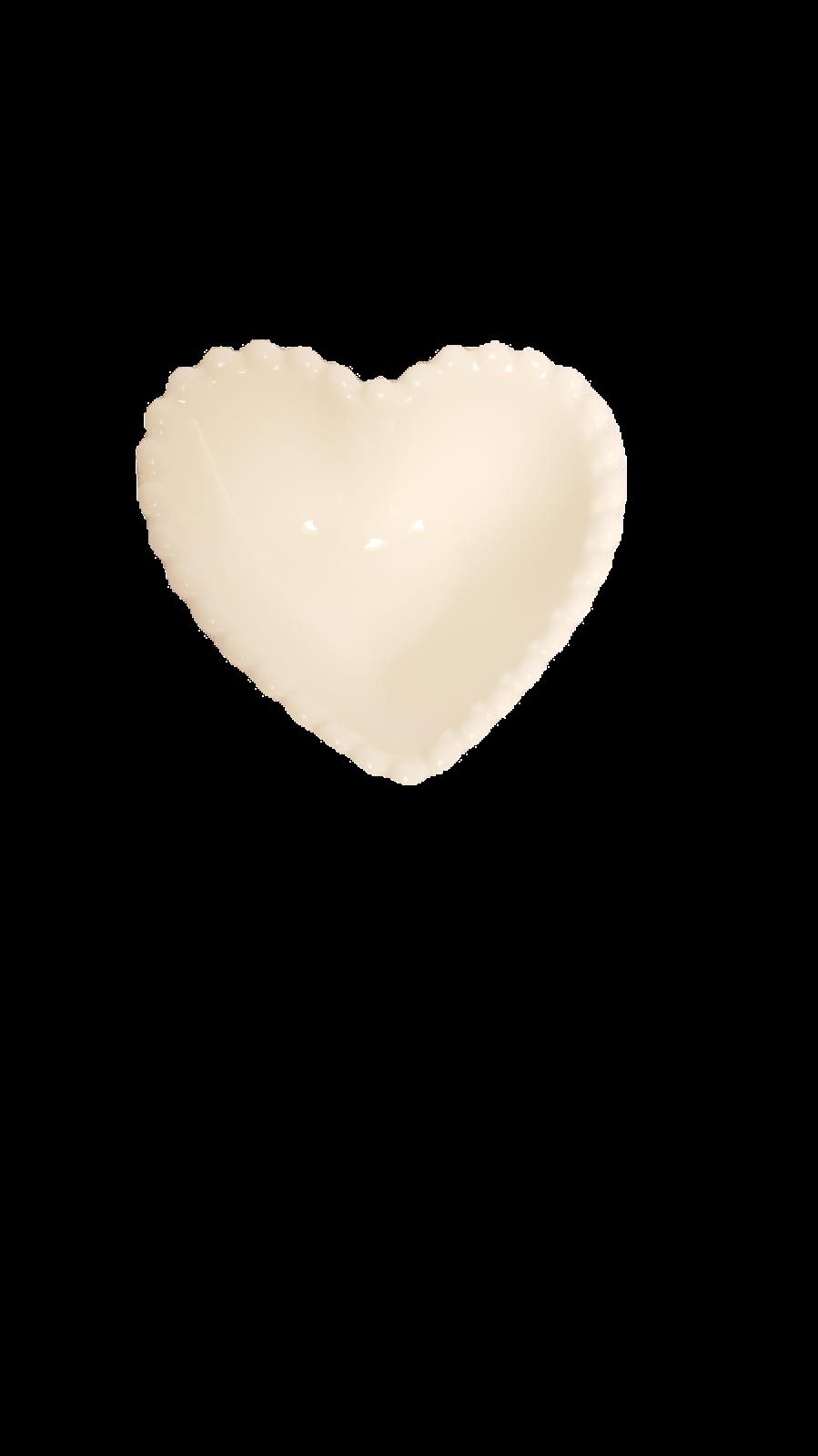 Mini Bowl Heart de ceramica branco