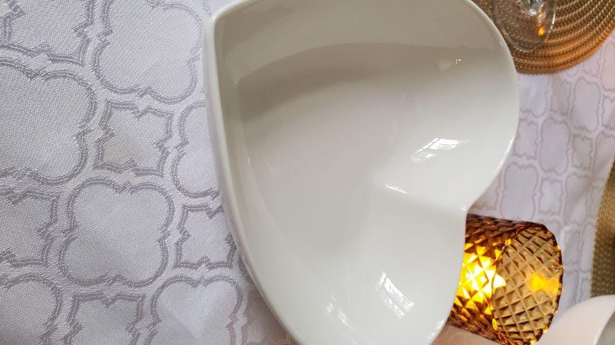 Petisqueira Heart porcelana branca