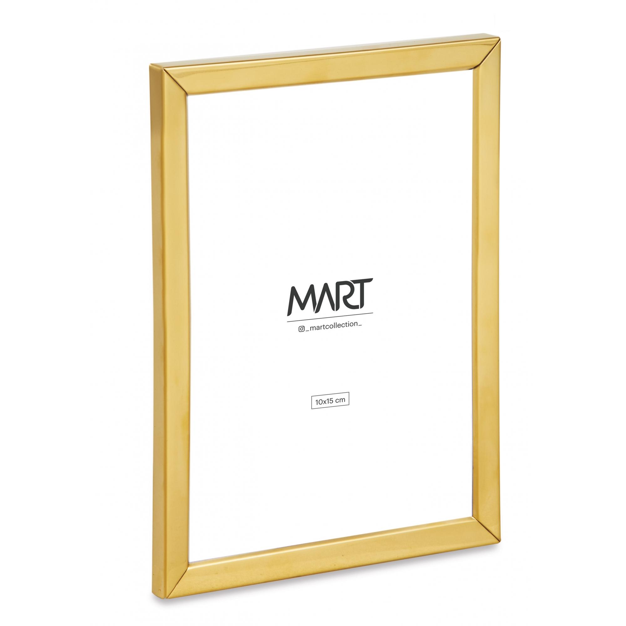 Porta-retrato Minimalist de metal dourado 10X15