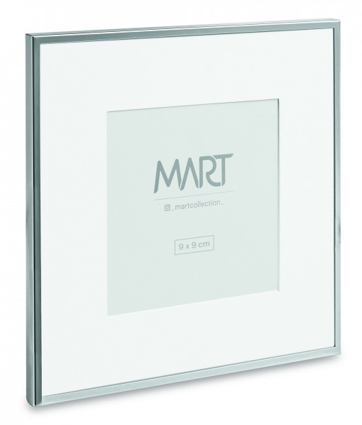 Porta-retrato Minimalist de metal Prata 9x9