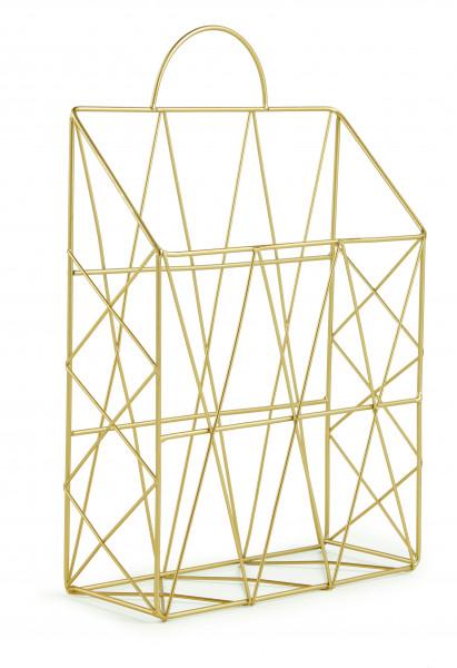 Porta-Revista Dourado em Metal