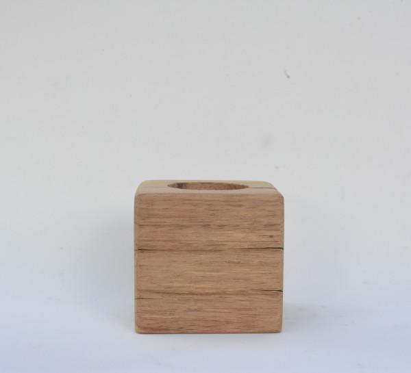 Porta velas - Ybirá madeira serrada rústica