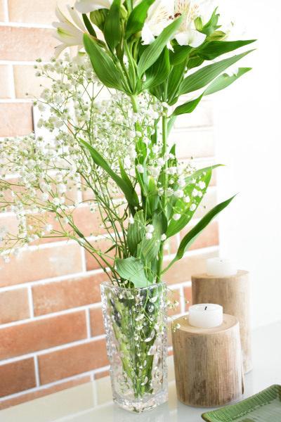 Porta velas - Ybirá natural em madeira rustica pintura branca