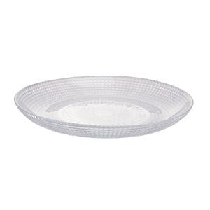 Prato Clear para sobremesa em Vidro transparente 19cm