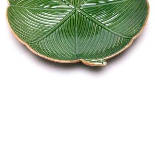 Prato decorativo banana leaf