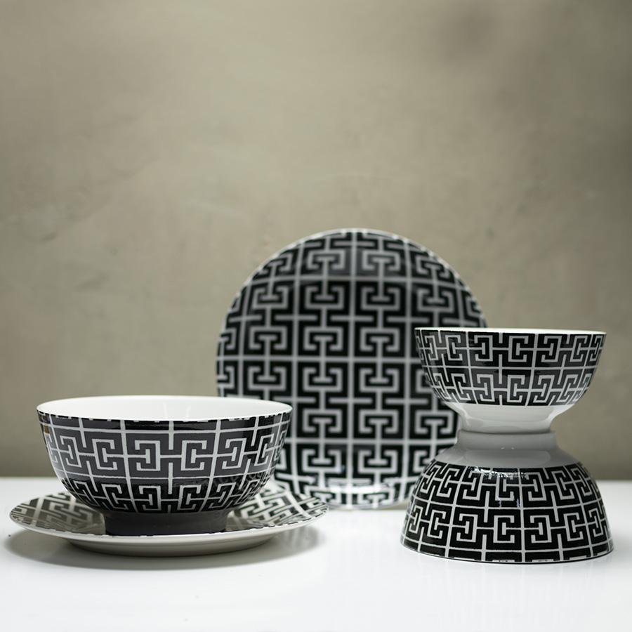 Prato fundo de porcelana egypt coupe 18cm