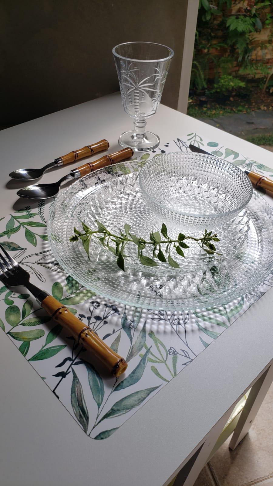 Prato Raso Clear em vidro transparente 27cm
